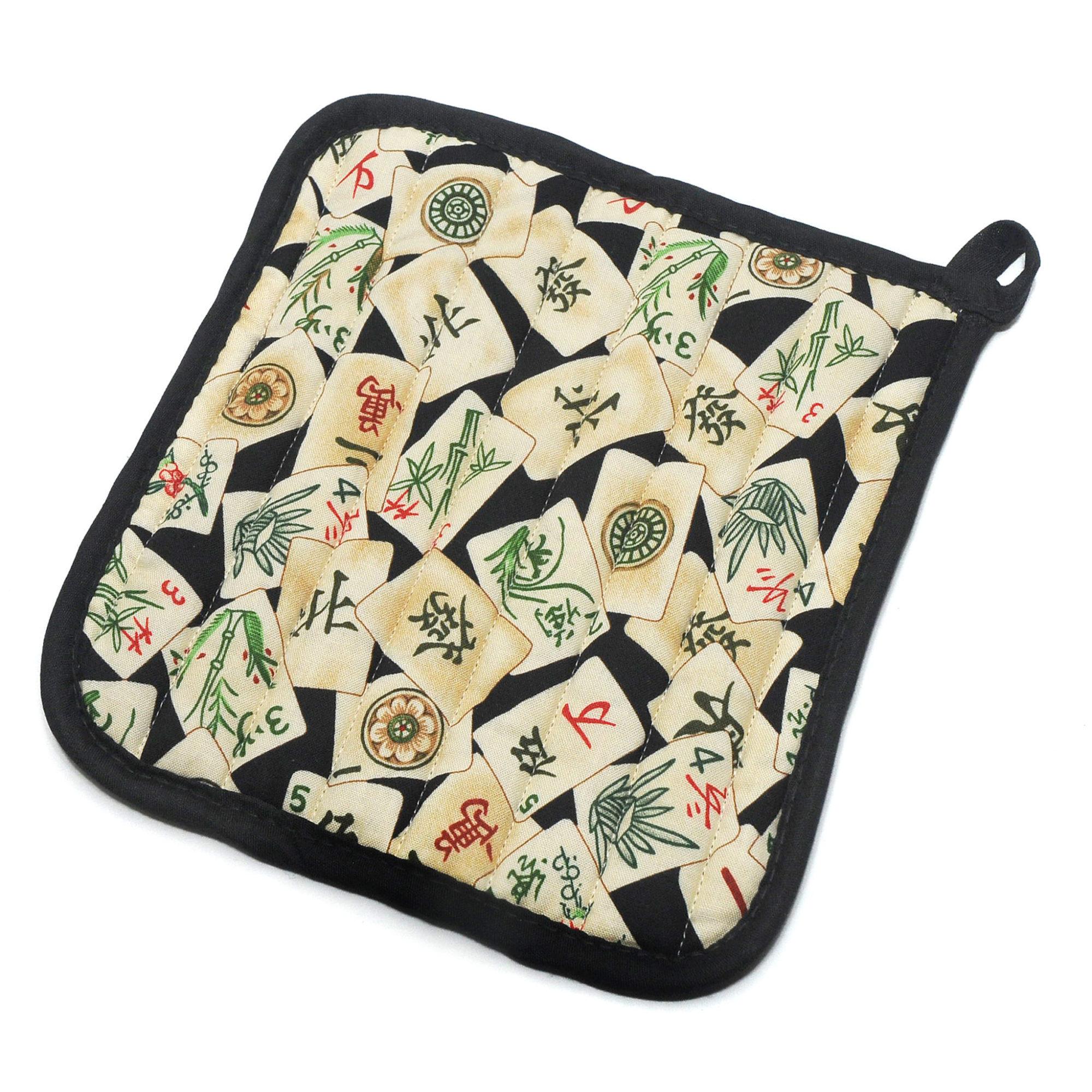 Vintage Mah Jongg Tile Hot Pad