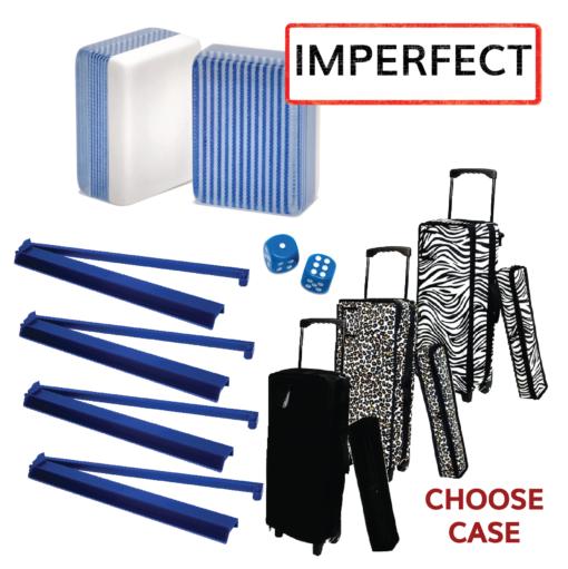 Clearance Mah Jongg Set - Blue Stripe