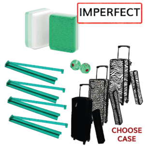 Clearance Mah Jongg Set - Green Glitter
