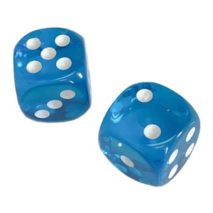 Pair of Turquoise Translucent Dice