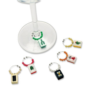 Beaded Mah Jongg Wine Charms