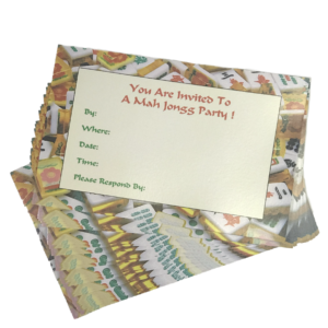 Pack of 25 Mah Jongg Party Invitations