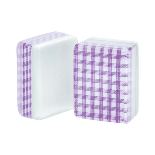 Purple Checkered American Mah Jongg Tiles