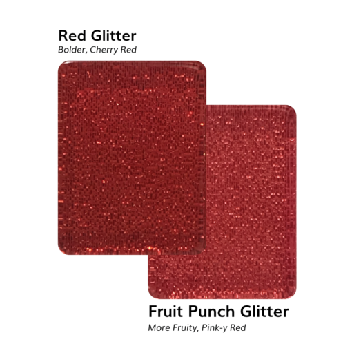 Red Glitter VS Fruit Punch Glitter American Mah Jongg Tiles