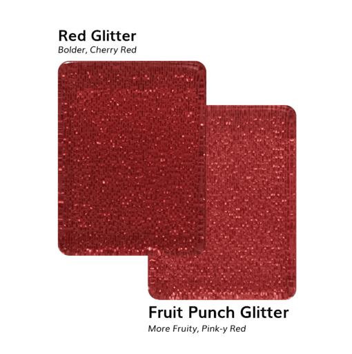 Red Glitter VS Fruit Punch Glitter American Mah Jongg Tiles