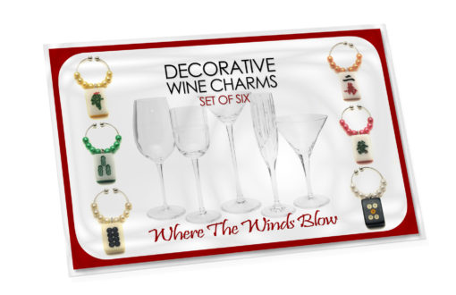 Beaded Mah Jongg Wine Charms