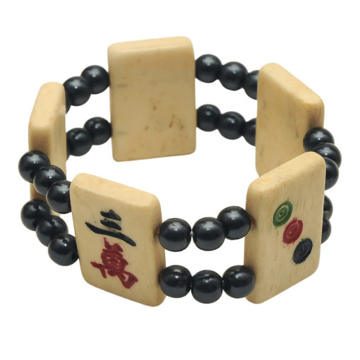 Mah Jongg Tile Bracelet - Black