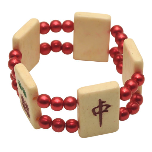 Mah Jongg Tile Bracelet - Red