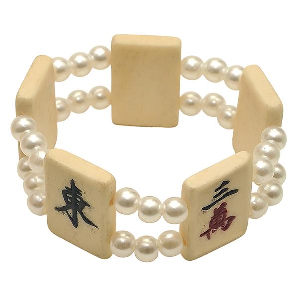 Mah Jongg Tile Bracelet - Pearl