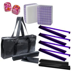 American Mah Jongg Set - Purple Checkered