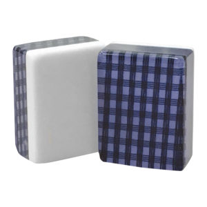 Navy Checkered American Mah Jongg Tiles