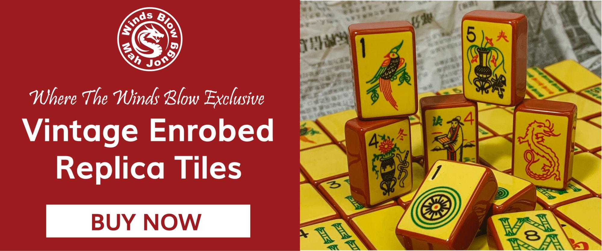Vintage Replica Enrobed American Mahjong Tiles