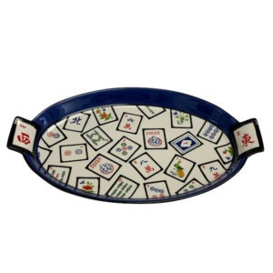 Ceramic Mah Jongg Tile Serving Tray