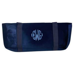 Blue Velour American Mah Jongg Bag Case - Custom Embroidered