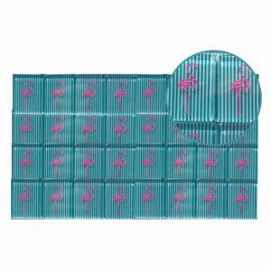Full Set Mah Jongg Tile Engraving - Flamingos
