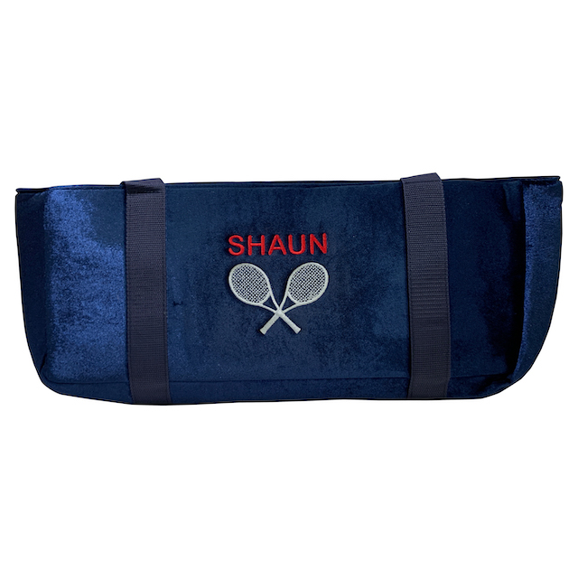 Tennis Racket Engraved Velour Mah Jongg Bag Case