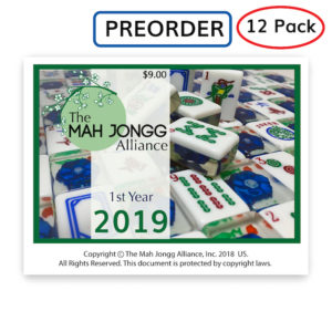 Mah Jongg Alliance 2019 Mah Jongg Card