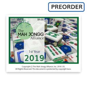 Mah Jongg Alliance 2019 Mah Jongg Card