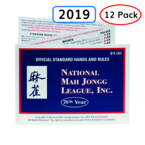 2019 National May Jongg League (NMJL) Cards