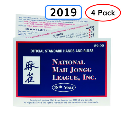 2019 National May Jongg League (NMJL) Cards