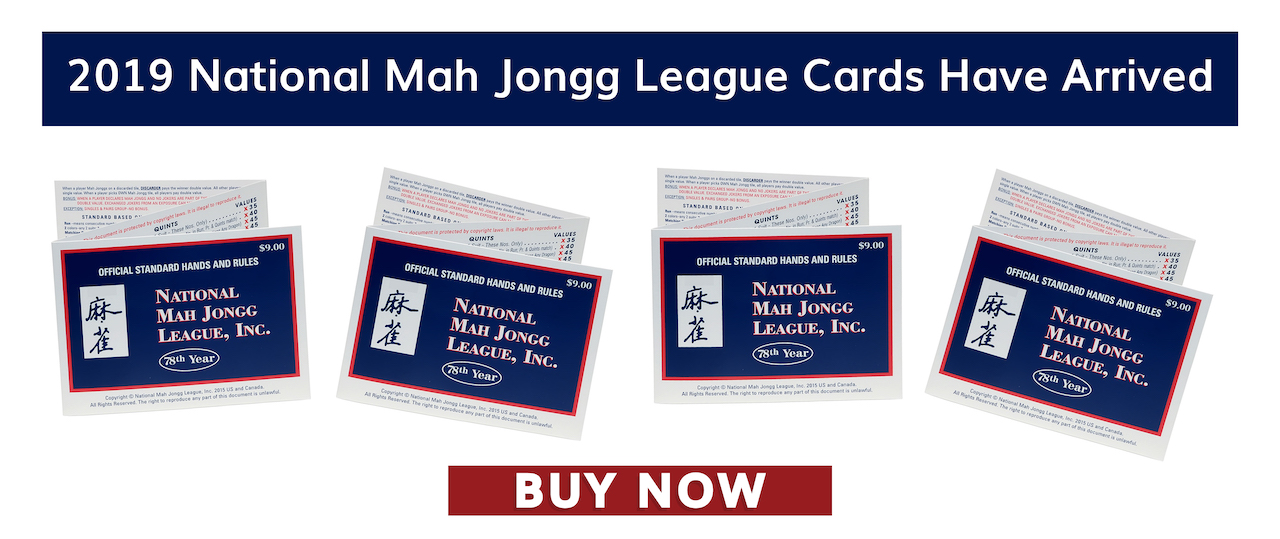 2019 National Mah Jongg League Cards Now Available at Where The Winds Blow Mah Jongg