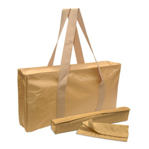 Gold Nylon Mah Jongg Travel Bag