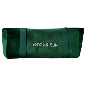 Green Velour Mah Jongg Case Bag with Embroidery