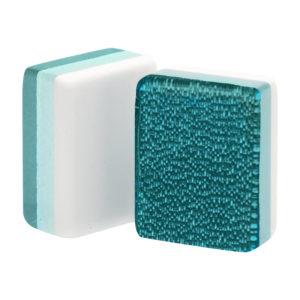 Teal Glitter American Mah Jongg Tiles