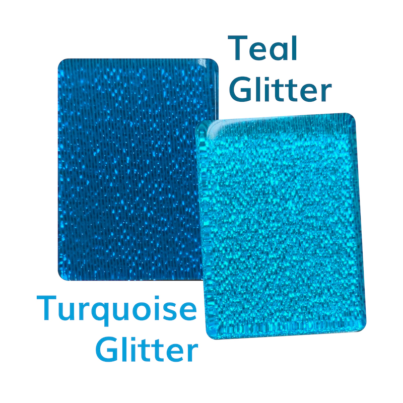 Difference between Teal vs Turquoise Glitter American Mah Jongg Tiles at Where The Winds Blow Mah Jongg