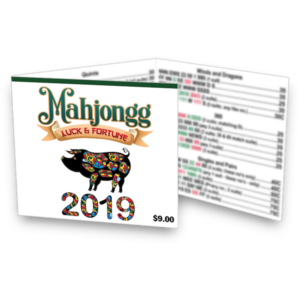 2019 American Mah Jongg Card - Luck and Fortune Mah Jongg Card