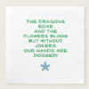 dragon mah jongg napkins