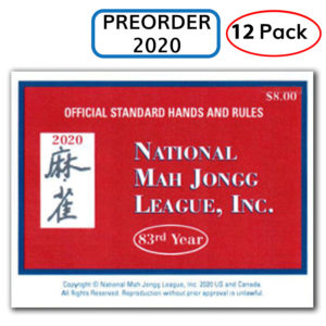 2020 National Mah Jongg League Card