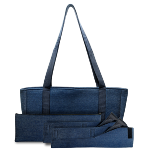 denim mah jongg bag complete set