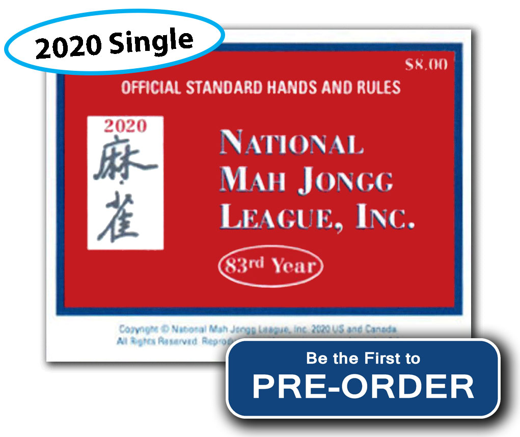 2020 national mah jongg league card (single preorder)